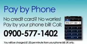 Pay by Phone 0900 577-1402