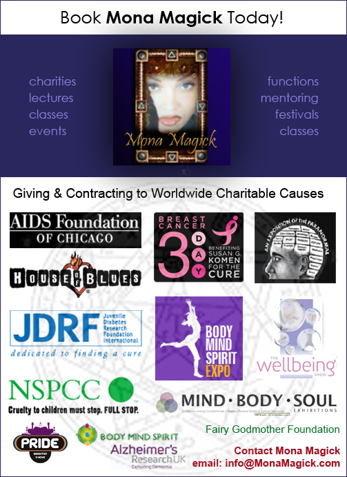 All charities and functions that hire Mona Magick!